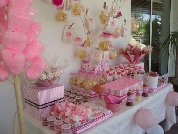 Mesas de dulces postres pasteles fondant cake boutique for Decoracion para mesa dulce